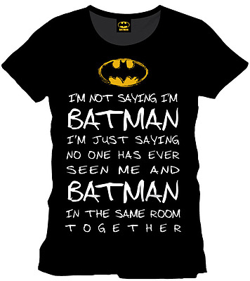 Einfach und sicher online bestellen: Batman T-Shirt Who is Batman L in Österreich kaufen.