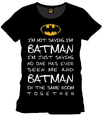 Einfach und sicher online bestellen: Batman T-Shirt Who is Batman XL in Österreich kaufen.