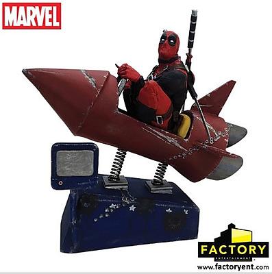 Einfach und sicher online bestellen: Deadpool Premium Motion Statue Rocket Ride in Österreich kaufen.