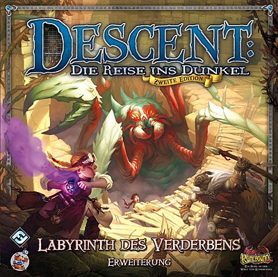 Einfach und sicher online bestellen: Descent 2. Edition: Labyrinth des Verderberns in Österreich kaufen.