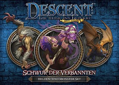 Einfach und sicher online bestellen: Descent: Schwur der Verbannten Helden & Monsterset in Österreich kaufen.