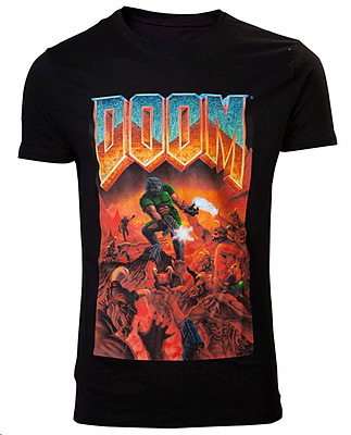 Einfach und sicher online bestellen: Doom T-Shirt Classic Boxart L in Österreich kaufen.