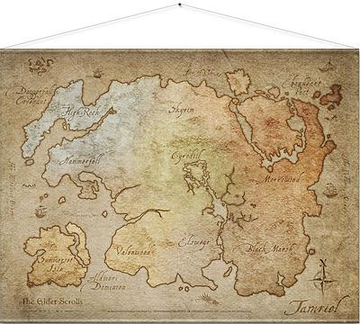 Einfach und sicher online bestellen: Elder Scrolls Online Wandrolle Map 100 x 77 cm in Österreich kaufen.