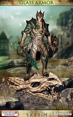 Einfach und sicher online bestellen: The Elder Scrolls V Statue Vulkanglasrüstung 1/6 in Österreich kaufen.