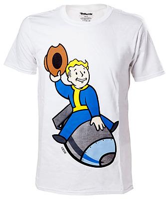 Einfach und sicher online bestellen: Fallout 4 T-Shirt Vault Boy Bomber M in Österreich kaufen.