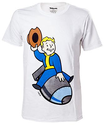 Einfach und sicher online bestellen: Fallout 4 T-Shirt Vault Boy Bomber XL in Österreich kaufen.