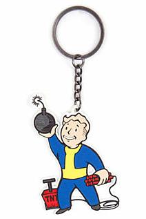 Einfach und sicher online bestellen: Fallout 4 Gummi-Schlüsselanhänger Explosives Skill in Österreich kaufen.