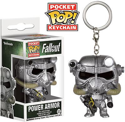 Einfach und sicher online bestellen: Fallout 4 POP! Vinyl Schlüsselanhänger Power Armor in Österreich kaufen.