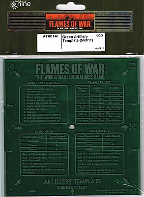 Einfach und sicher online bestellen: Green Artillery Template (Metric) in Österreich kaufen.