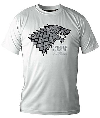 Einfach und sicher online bestellen: Game of Thrones T-Shirt Winter Is Coming weiß L in Österreich kaufen.