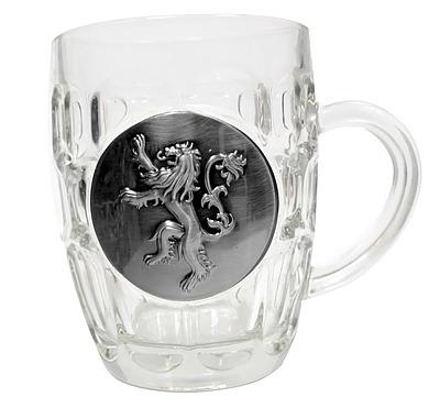 Einfach und sicher online bestellen: Game of Thrones Bierglas Lannister Metallic Logo in Österreich kaufen.