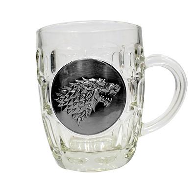 Einfach und sicher online bestellen: Game of Thrones Bierglas Stark Metallic Logo in Österreich kaufen.
