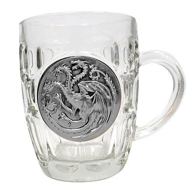 Einfach und sicher online bestellen: Game of Thrones Bierglas Targaryen Metallic Logo in Österreich kaufen.