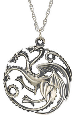 Einfach und sicher online bestellen: Game of Thrones Halskette mit Anhänger Targaryen in Österreich kaufen.