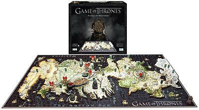 Einfach und sicher online bestellen: Game of Thrones 3D Puzzle Westeros in Österreich kaufen.