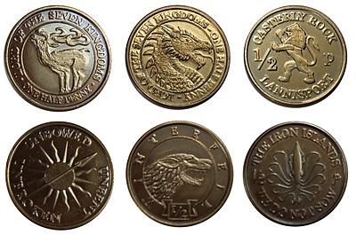 Einfach und sicher online bestellen: Game of Thrones Münzen Set House Half-Pennies in Österreich kaufen.