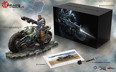 Einfach und sicher online bestellen: Gears of War 4 Collector's Edition Statue JD Fenix in Österreich kaufen.