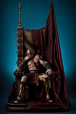 Einfach und sicher online bestellen: God of War Statue Kratos on Throne 1/4 in Österreich kaufen.