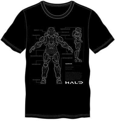 Einfach und sicher online bestellen: Halo 5 T-Shirt Anatomy M in Österreich kaufen.