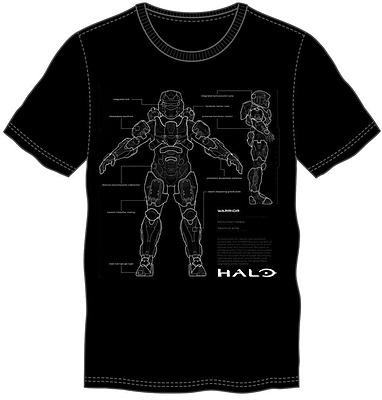 Einfach und sicher online bestellen: Halo 5 T-Shirt Anatomy XL in Österreich kaufen.