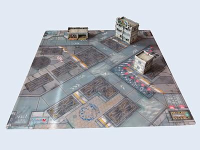 Einfach und sicher online bestellen: War Game Mat District 5 für Infinity in Österreich kaufen.