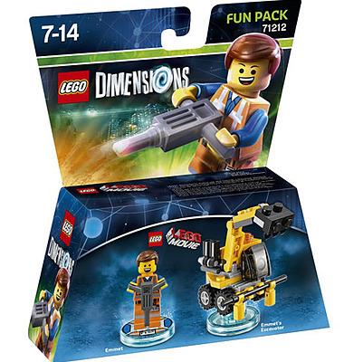 Einfach und sicher online bestellen: LEGO Dimensions Fun Pack Emmet in Österreich kaufen.