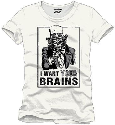Einfach und sicher online bestellen: Legend Icon T-Shirt I Want Your Brains XL in Österreich kaufen.
