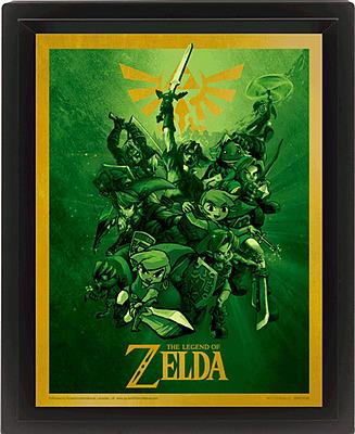 Einfach und sicher online bestellen: The Legend of Zelda Poster 3D-Effekt Link in Österreich kaufen.