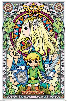 Einfach und sicher online bestellen: The Legend of Zelda Poster Stained Glass in Österreich kaufen.