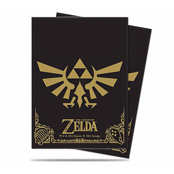 Einfach und sicher online bestellen: Legend of Zelda TCG Sleeves Black & Gold in Österreich kaufen.