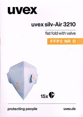 Einfach und sicher online bestellen: 15 UVEX Silv-Air classic 3210 FFP2 Atemschutzmaske in Österreich kaufen.