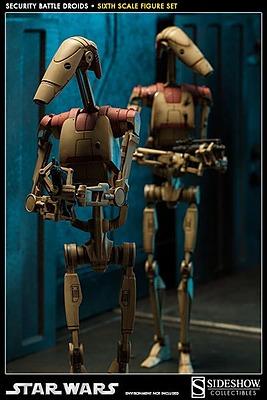 Einfach und sicher online bestellen: Star Wars Actionfiguren Set 1/6 Security Droids in Österreich kaufen.