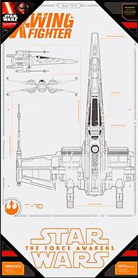 Einfach und sicher online bestellen: Star Wars Episode 7 Glas-Poster X-Wing in Österreich kaufen.