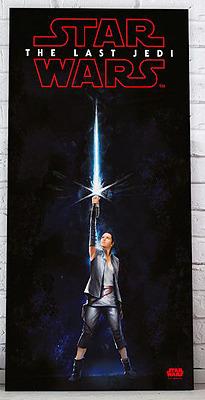 Einfach und sicher online bestellen: Star Wars Episode 8 Glas-Poster Rey in Österreich kaufen.