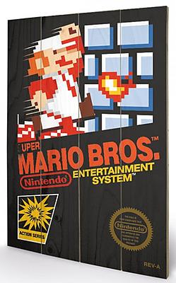 Einfach und sicher online bestellen: Super Mario Bros. Holzdruck NES Cover 40 x 60 cm in Österreich kaufen.