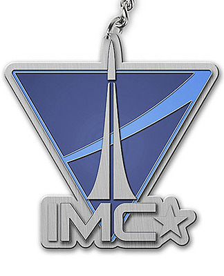 Einfach und sicher online bestellen: Titanfall Metall Schlüsselanhänger IMC Logo in Österreich kaufen.