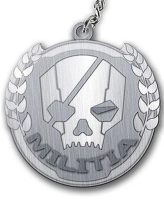 Einfach und sicher online bestellen: Titanfall Metall Schlüsselanhänger Militia Logo in Österreich kaufen.