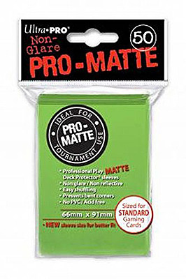 Einfach und sicher online bestellen: Ultra Pro-Matte Sleeves Lime Green (50) in Österreich kaufen.