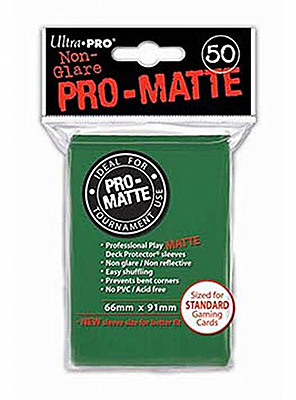 Einfach und sicher online bestellen: Ultra Pro-Matte Sleeves Green (50) in Österreich kaufen.