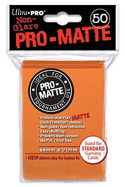 Einfach und sicher online bestellen: Ultra Pro-Matte Sleeves Orange (50) in Österreich kaufen.