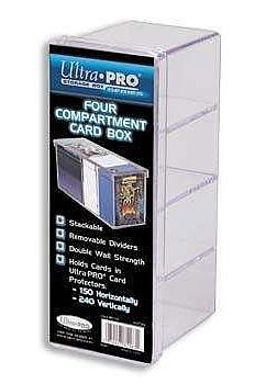 Einfach und sicher online bestellen: Ultra Pro 4-Compartment Kartenbox für 240 Karten in Österreich kaufen.