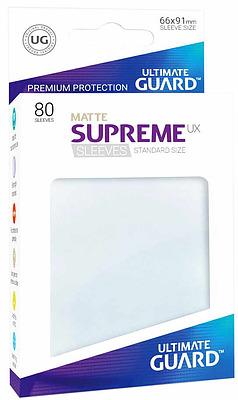 Einfach und sicher online bestellen: Ultimate Guard Supreme UX Sleeves Matt Frosted in Österreich kaufen.