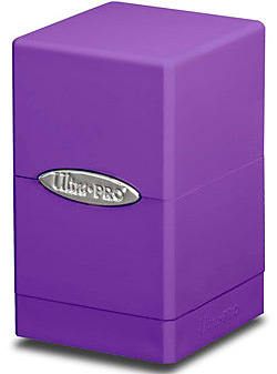 Einfach und sicher online bestellen: Ultra Pro Violett Satin Tower Deckbox in Österreich kaufen.