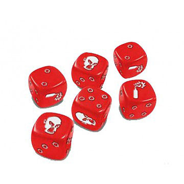 Einfach und sicher online bestellen: Zombicide - Red Special Dice in Österreich kaufen.