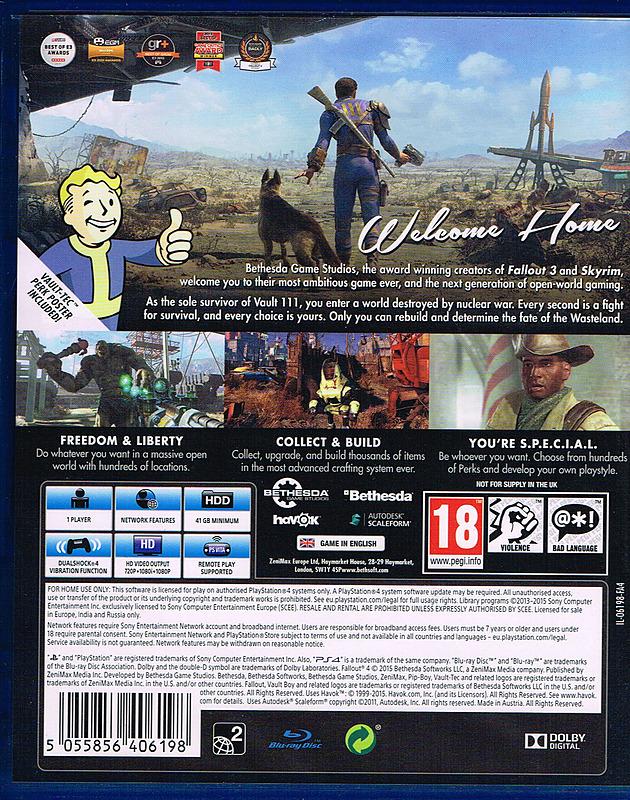 Fallout 4 Uncut Day 1 Edition Für Ps4 Xbox One Und Pc Kaufen