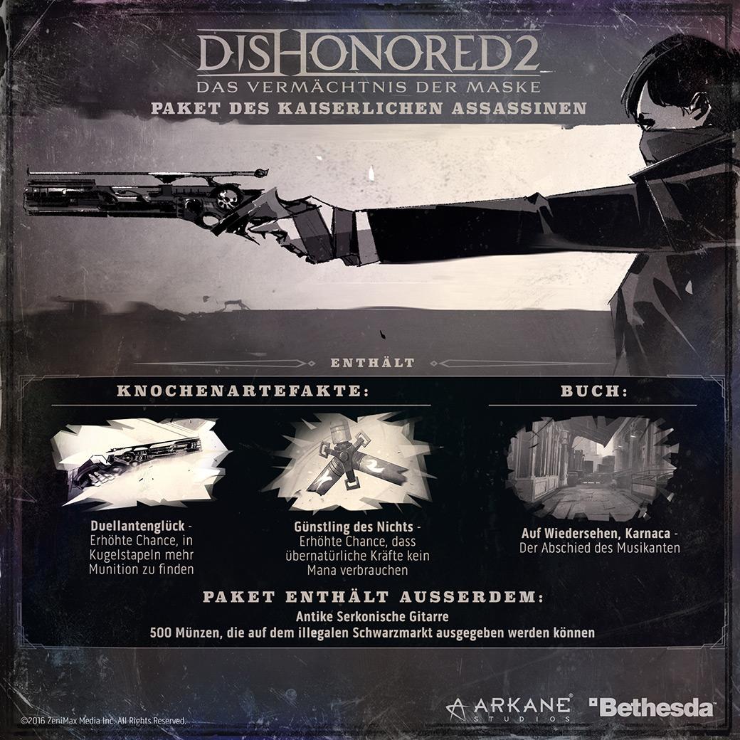 Vorbesteller-Aktion zu Dishonored 2 D1 Edition Uncut für PS4, Xbox One und PC