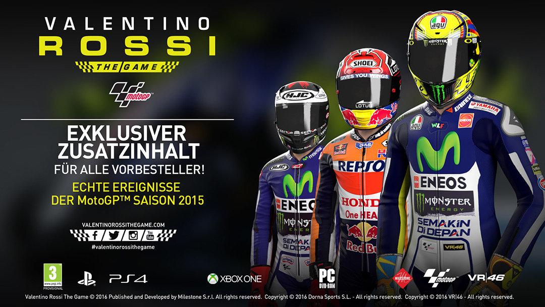 Vorbesteller-Aktion zu Valentino Rossi - The Game + DLC