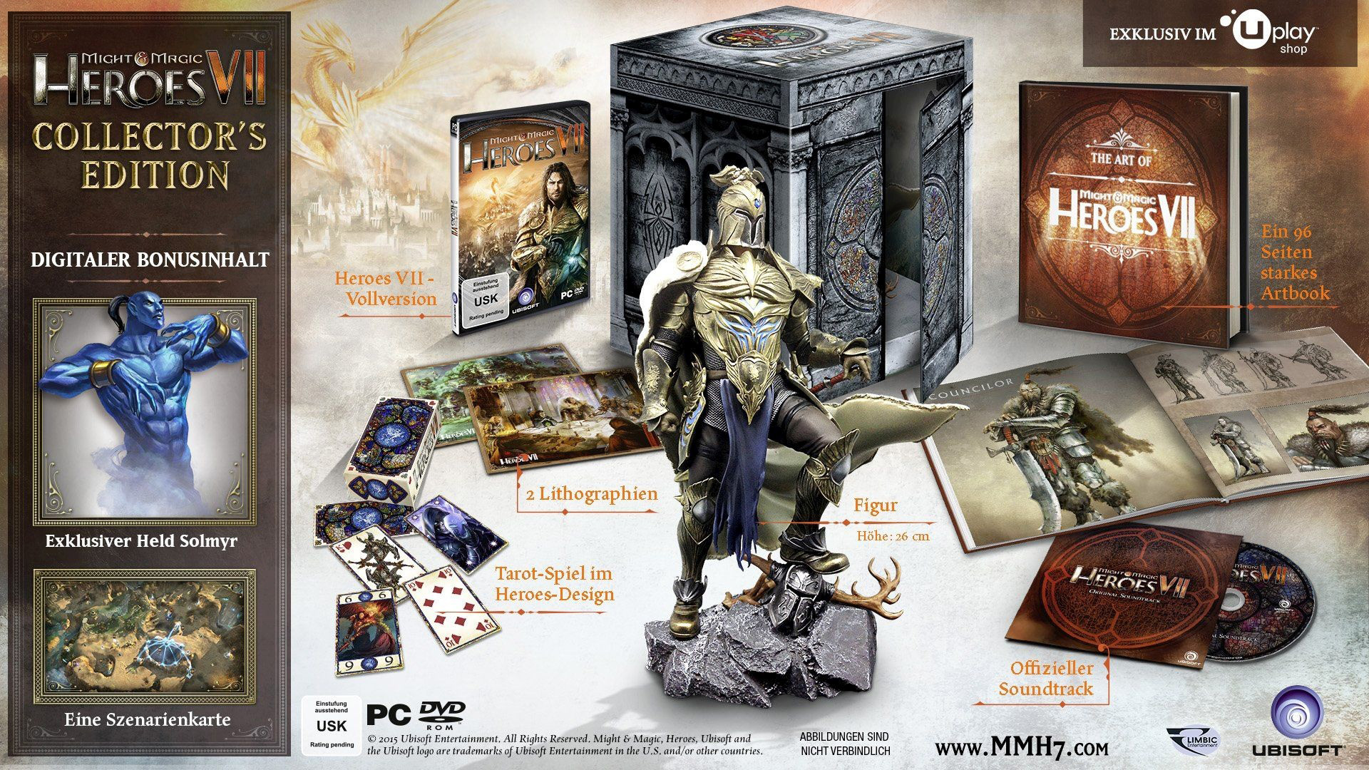 Inhalte der Might & Magic Heroes 7 Collectors Edition